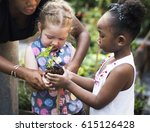 child is going to plant a tree | Shutterstock . vector #615126428