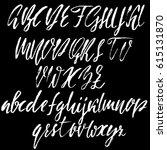hand drawn font. modern dry... | Shutterstock .eps vector #615131870