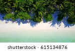 aerial view of beautiful white... | Shutterstock . vector #615134876
