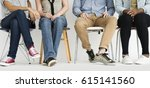 Cropped Group Of People Sittin...