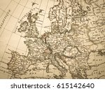 antique old map europe | Shutterstock . vector #615142640