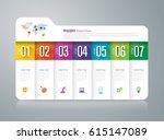 folder infographics design... | Shutterstock .eps vector #615147089