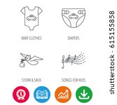 diapers  newborn clothes and... | Shutterstock .eps vector #615155858
