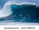 giant shore break ocean wave... | Shutterstock . vector #615158954