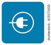 charging sign blue. vector. | Shutterstock .eps vector #615171020