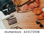 clothing for woman and travel... | Shutterstock . vector #615172538