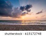 beach sunrise. | Shutterstock . vector #615172748