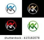 kk letter vector logo design | Shutterstock .eps vector #615182078