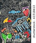abstract design  texture   Shutterstock .eps vector #61518613