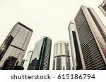 modern architecture of big... | Shutterstock . vector #615186794
