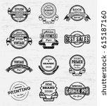 vintage logos   badges... | Shutterstock .eps vector #615187160