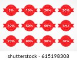 collection of sale discount... | Shutterstock .eps vector #615198308
