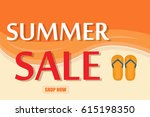 summer sale template banner... | Shutterstock .eps vector #615198350