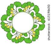 ginkgo biloba plant  leaf ... | Shutterstock .eps vector #615198650