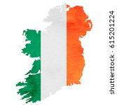 ireland map national flag icon | Shutterstock .eps vector #615201224