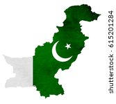 pakistan map national flag icon | Shutterstock .eps vector #615201284