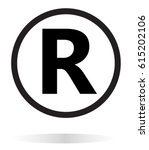 registered trademark icon on... | Shutterstock .eps vector #615202106