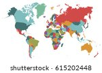 world map countries vector on... | Shutterstock .eps vector #615202448