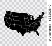map usa vector  | Shutterstock .eps vector #615203840