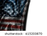 usa flag background with... | Shutterstock . vector #615203870