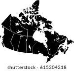 map canada vector | Shutterstock .eps vector #615204218