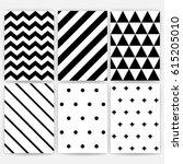 pattern set. geometric vector... | Shutterstock .eps vector #615205010