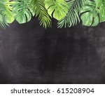 chalkboard background with hand ... | Shutterstock . vector #615208904