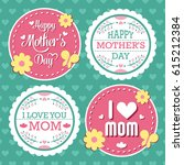 mothers day lettering... | Shutterstock .eps vector #615212384