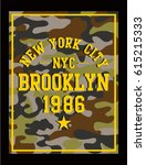 new york authentic camouflage... | Shutterstock .eps vector #615215333
