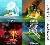 natural disasters design... | Shutterstock .eps vector #615216614