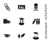 set of 9 editable graduation...