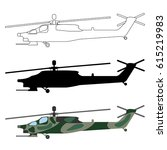 helicopter silhouette  cartoon  ... | Shutterstock .eps vector #615219983