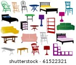 furniture | Shutterstock .eps vector #61522321