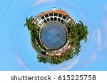tiny planet mansion houses and... | Shutterstock . vector #615225758