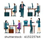 office worker icons set with...