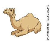 color vector image of a camel.... | Shutterstock .eps vector #615230243