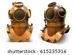 copper old vintage deeps sea... | Shutterstock . vector #615235316