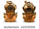 copper old vintage deeps sea... | Shutterstock . vector #615235334