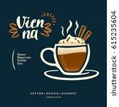 modern hand drawn lettering... | Shutterstock .eps vector #615235604