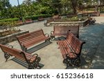 view of group of unoccupied... | Shutterstock . vector #615236618