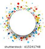 white round festive background... | Shutterstock .eps vector #615241748