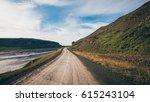empty road at westfjord  ...   Shutterstock . vector #615243104