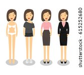 woman in different style... | Shutterstock .eps vector #615252680