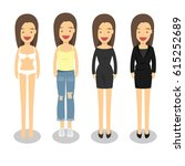 woman in different style... | Shutterstock .eps vector #615252689