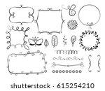 big set of decorative elements  ... | Shutterstock .eps vector #615254210