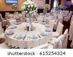 luxury wedding decor with... | Shutterstock . vector #615254324
