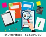 human resources management... | Shutterstock .eps vector #615254780