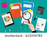 financial audit concept....   Shutterstock .eps vector #615254783