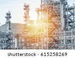 oil and gas industry refinery... | Shutterstock . vector #615258269