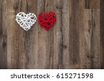 Two Hearts On The Wooden...